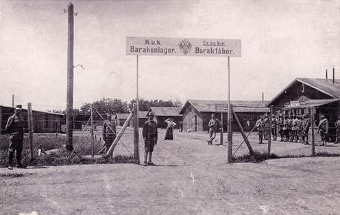 A tápiósülyi katonai tábor bejárata 1907-ben