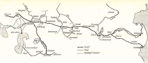 A hadifogoly-szállítmányok fő útvonalai