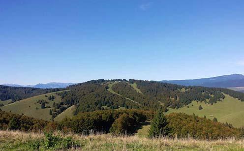 A Monte di Val Bella a Col del Rosso felől fotózva
