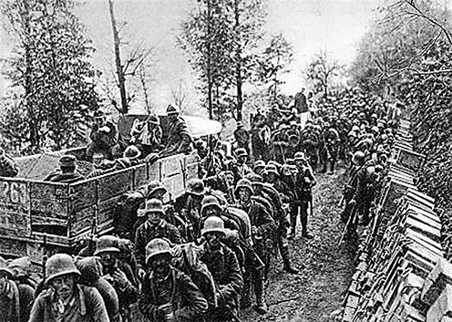 Német katonák Caporetto után