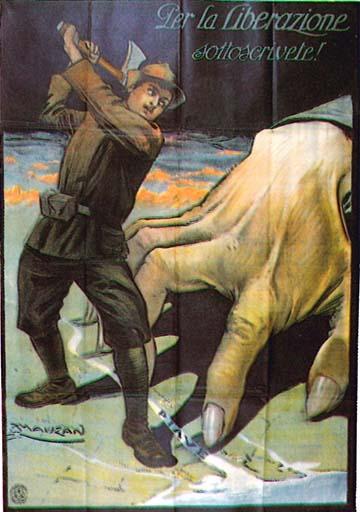 Achille Mauzan hadikölcsönjegyzésre szólító plakátja (1917)