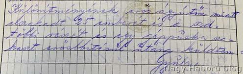 Sipos ezredes jelentése a dandárparancsnokságnak