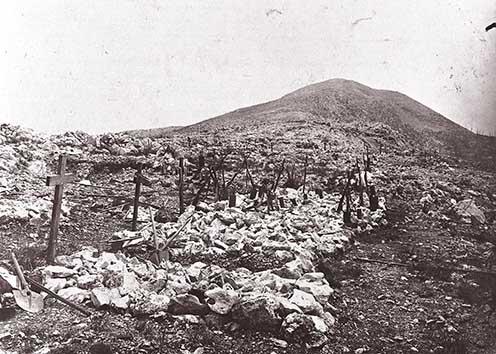Temető a Monte San Gabriele oldalában
