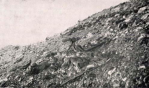 A Monte San Gabriele déli lejtője