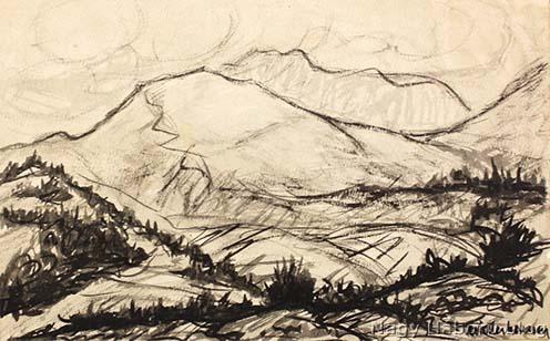 A Monte San Gabriele korabeli ábrázolása