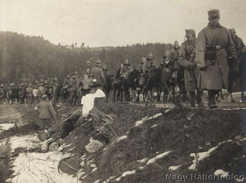 Huszárok visszavonulása Limanova felé