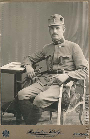 Gömöry Árpád százados. A fénykép Pancsován készült 1914. augusztus 17-én