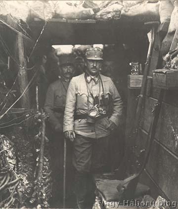 József főherceg a Monte San Michelén lévő állásokban 1916 tavaszán