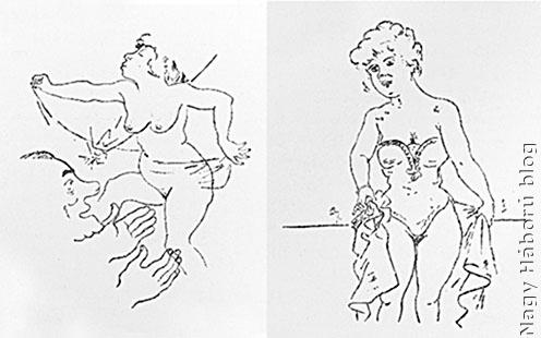 Georg Grosz rajzai a tábori bordélyból