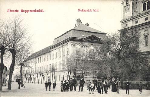 Rokkantak háza Nagyszombatban, az első világháború előtt. Korabeli képeslap