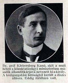 Gróf Klebersberg Kunó 1914-ben