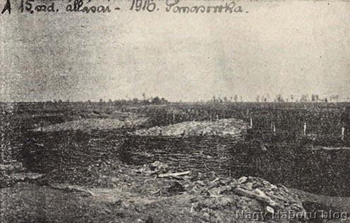 A császári és királyi 69. gyalogezred állásai 1916 tavaszán