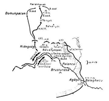 A magyar királyi 17. népfelkelő gyalogezred alakulatainak helyzete, 1917 november-december