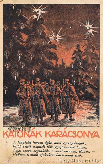 Karácsonyi képeslap a háborús időkből