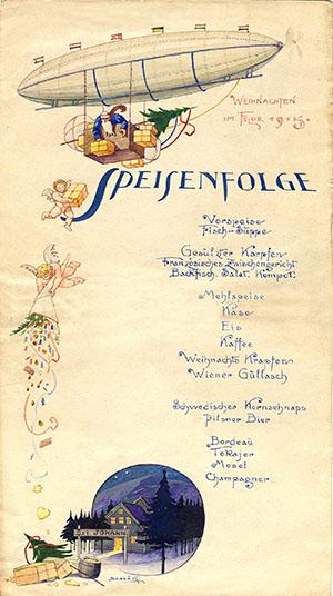 Karácsonyi étlap a frontról, 1915