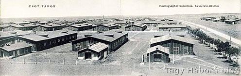 Csót tábor korabeli panorámaképen