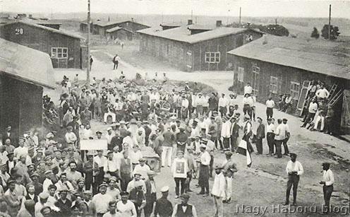 Búcsúünnepség a táborban