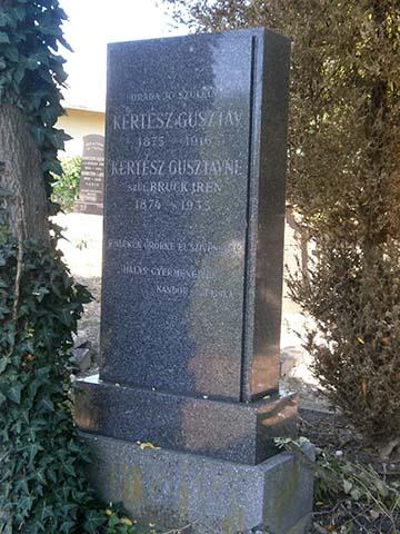 Kertész Gusztáv síremléke
