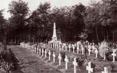 A hadifogoly-temető 1935 körül