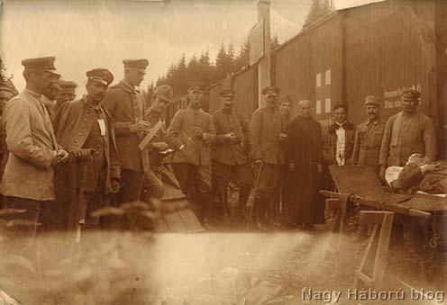 Német sebesültek bevagonírozása