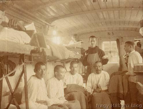Orosz hadifoglyok a cs. és kir. 45. sz. állandó kórházvonaton