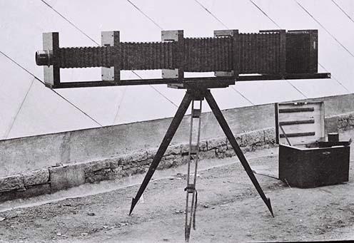 A megfigyeléshez használt fényképezőgép