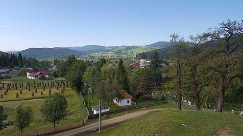 Vatra Moldoviței panorámája napjainkban