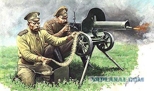 Orosz géppuskások idealizált rajza