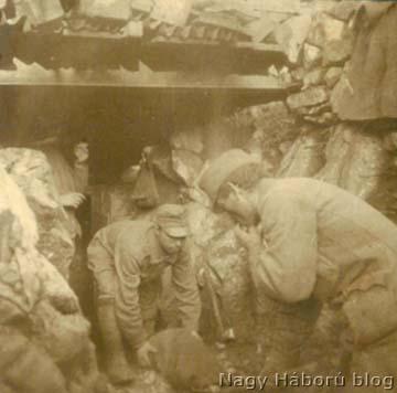 Kavernaépítés a Fajti Hriben 1917-ben