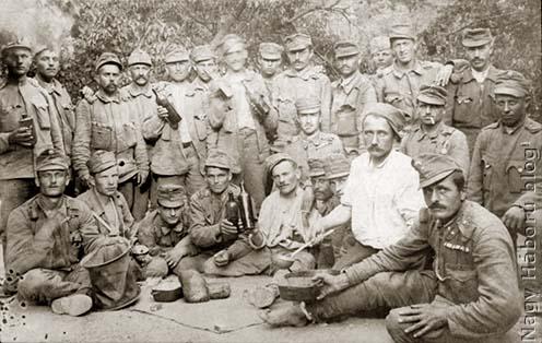 A cs. és kir. szegedi 46. gyalogezred 3. századának tisztjei 1917 júniusában