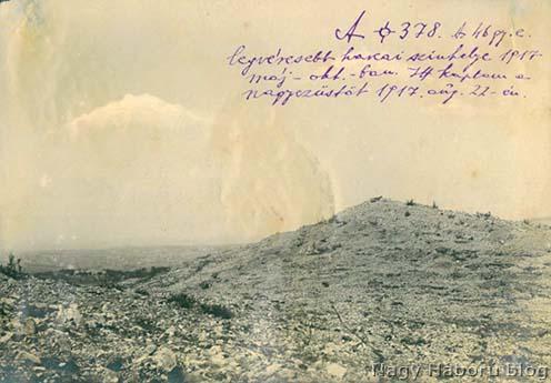 A cs. és kir. szegedi 46. gyalogezred 1917. évi legsúlyosabb harcainak helyszíne, a naplóban is sűrűn emlegetett 378-as magaslat és környéke