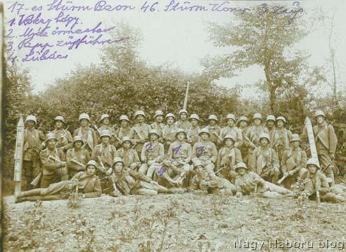 A Kókay László szakaszáról 1918. június 2-án, vasárnap délelőtt készült fotó