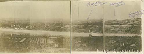 A támadási cél a Piave túloldalán a San Salvatore kastély tornyából készült felvételen