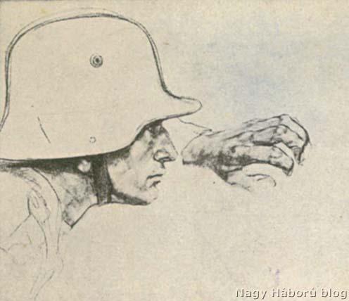 Részlet egy Kókay László által a 46-os rohamszázadtól írt, s 1918. május 6-ai postabélyegzővel ellátott tábori lapról