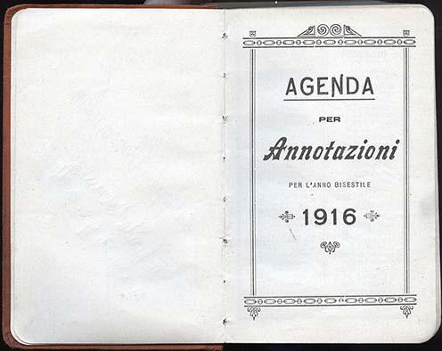 Szakraida István második naplója: egy olasz naptáros jegyzetfüzet