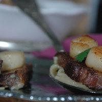 Kagylóhús és kacsasült, friss korianderes tésztával