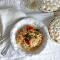 Garnélás spenótos tészta és citrompite