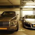 Rolls Royce Phantom + Audi R8