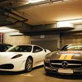 Ferrari F430 + Mercedes SLS AMG