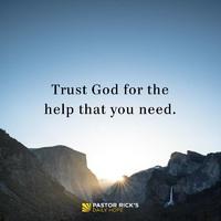 Bízz Istenben, segítségedre lesz a szükségben