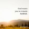 Hogyan maradjunk hűségesek, a szenvedések közepette is