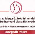 Az integrált teszt eredménye