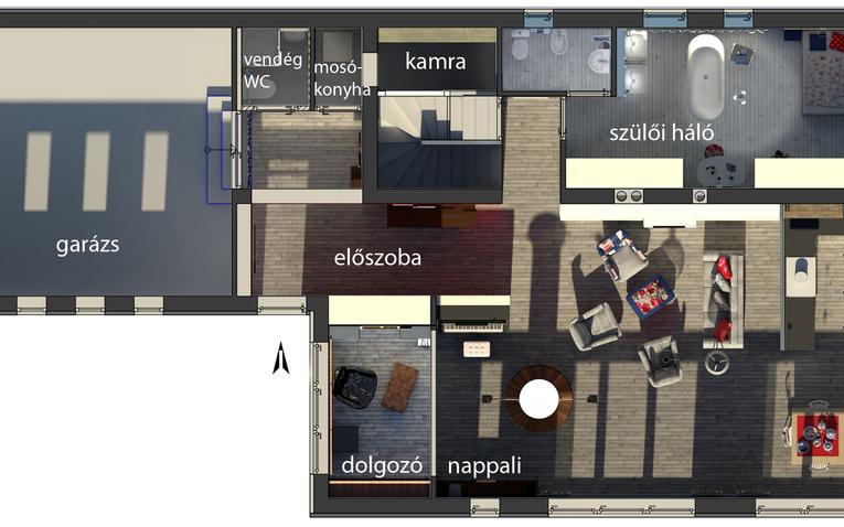 Vizsgafeladat - házátalakítás 3D-ben