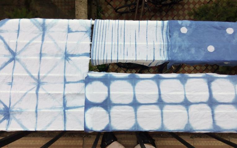 Textilfestés #2 - shibori