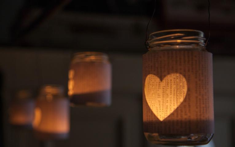 Valentin napi lámpások