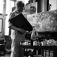 Raoul Dufy in his studio