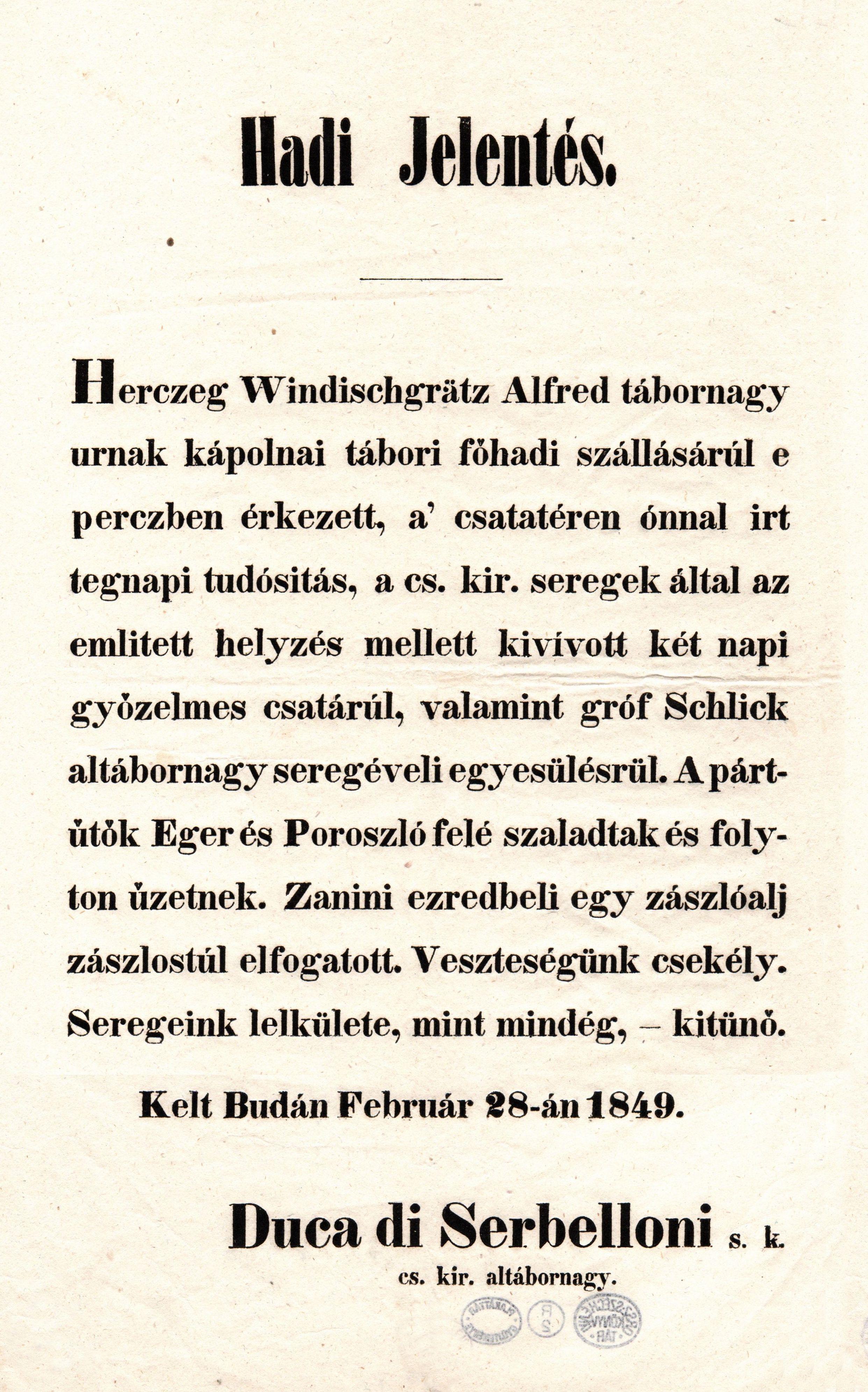 01_hadi_jelentes1849febr28_serbelloni_nemzetikonyvtar.jpg