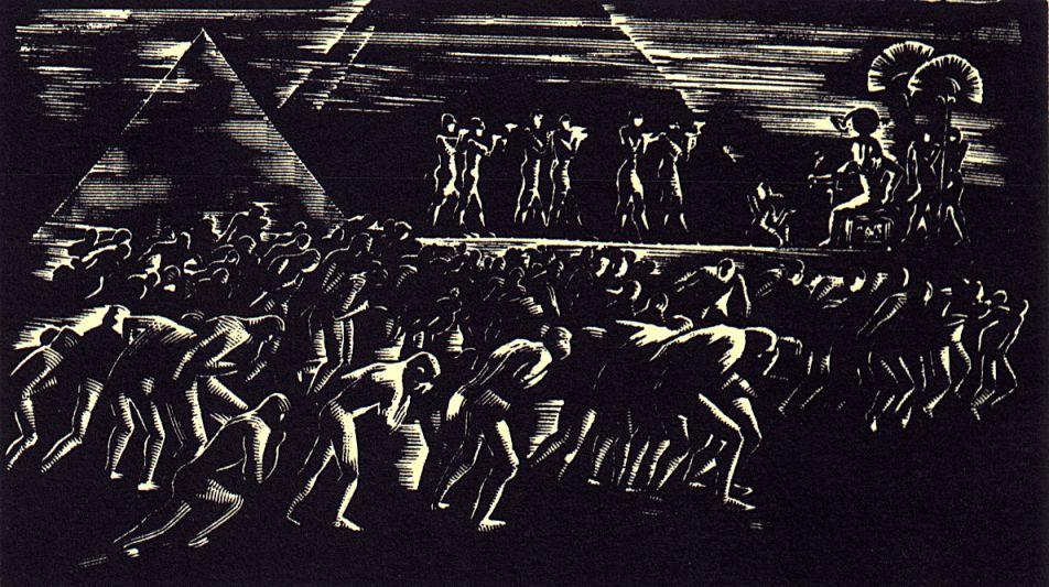 IV. szín: Egyiptomban <br />Buday György illusztrációja Madách Imre Az ember tragédiája című drámájához.