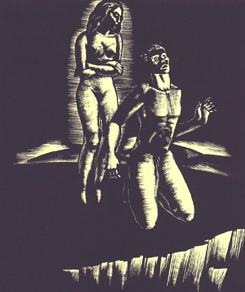 XV. szín: ...a harmadik szín pálmafás vidéke <br />Buday György illusztrációja Madách Imre Az ember tragédiája című drámájához.