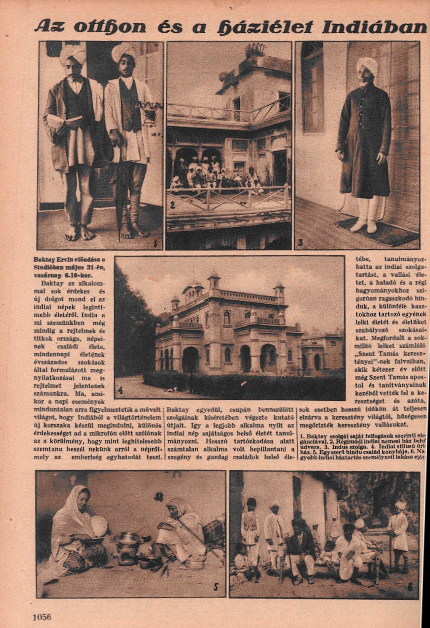 Az otthon és a háziélet Indiában. = Rádióélet. 1931. máj. 29. (22.<br />sz.) p. 1056.